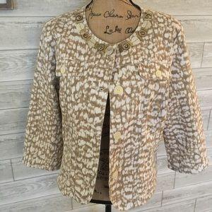 Ruby Road Animal Print Denim Jacket